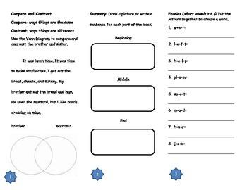 Mi Familia/My Family Comprehension Tri-fold: Journeys Grade 2; Lesson 2