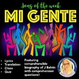 Mi Gente Spanish Song Activities Packet