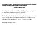 Mi Horario: A Speaking Acitivity