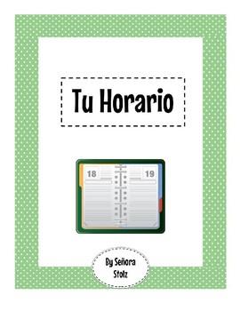 Tu Horario: Class Schedule in Spanish