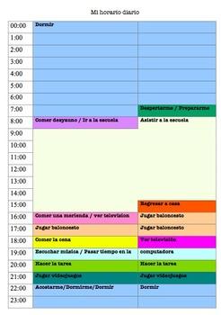 Mi Horario Diario Las Rutinas Project