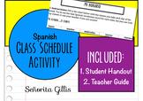 Mi Horario Spanish Class Schedule Practice