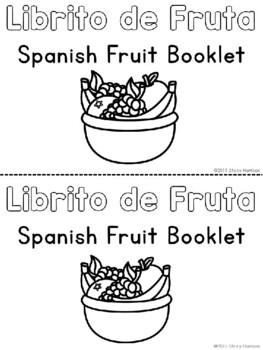 My Spanish Fruit Mini-Booklet. Mi Librito de Fruta.