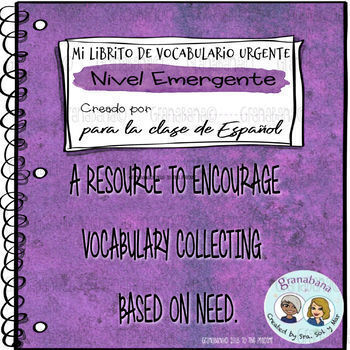 Mi Librito de Vocabulario Urgente: Nivel Emergente
