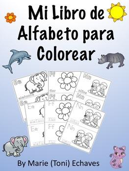 Mi Libro de  Alfabeto para Colorear/ My ABC Coloring Book Spanish