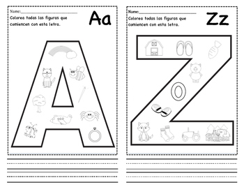 Spanish Cut, Color, and Paste Alphabet Book