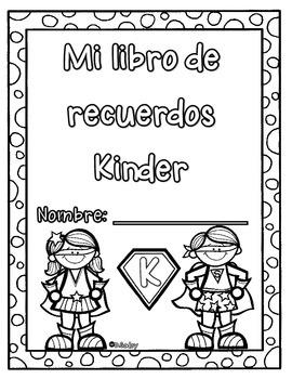 Mi Libro de recuerdos (superheroe) Kinder