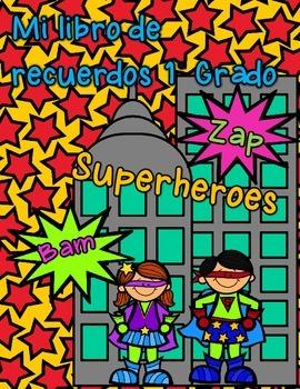 Mi Libro de recuerdos (superheroe) Primer grado