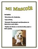 Mi Mascota Favorita Spanish I Pets Tener Ser Adjectives