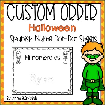 Spanish Halloween Name Practice (Customized Order)