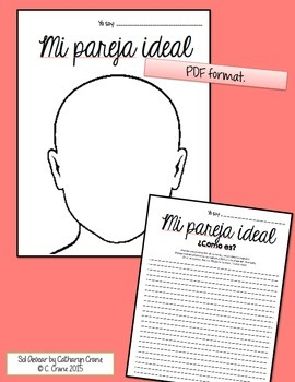 Spanish Valentine's - Mi Pareja Ideal - Writing Descriptions