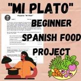 Mi Plato Project (Realidades 3B) Spanish food pyramid project
