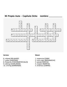 Mi Propio Auto - Chapter 8 Activities