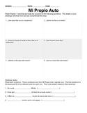 Mi Propio Auto - Chapters 1 through 10 Activities and Proj