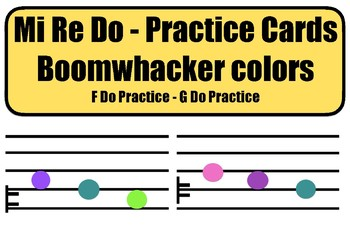 Mi Re Do Practice Cards - Boomwhacker colors