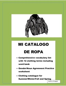 La Ropa-Clothing in Spanish- Fashion Catalog - Review Colors & Material & Sizes