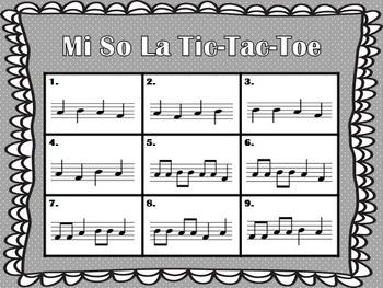 Mi So La Tic Tac Toe