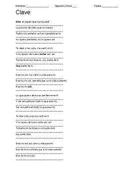Mi Sol - Jesse y Joy Cloze Song Lyrics