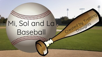 Mi Sol La Baseball for Google Slides