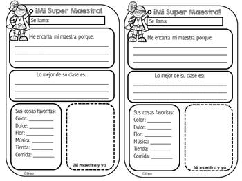 Mi Super Maestro(a) /Teacher Appreciation Week