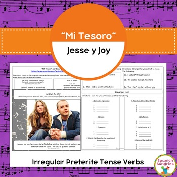 """Mi Tesoro"" & Irregular Preterite Tense Verbs"