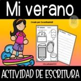 Mi Verano Actividad de Escritura - Summer Writing Activity