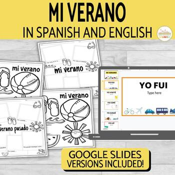 Verano Summer Writing Activity in Spanish & English