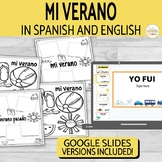 El Verano Summer Writing Activity in Spanish & English
