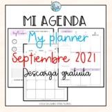 Mi agenda My planner sample SEPTIEMBRE 2021