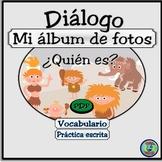 Family Photo Album Dialogue Activities - Mi albúm de fotos mini-diálogo bilingüe