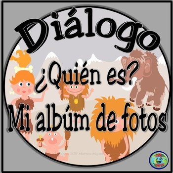 Family Photo Album Dialogue Activities - Mi albúm de fotos mini-diálogo bilingüe
