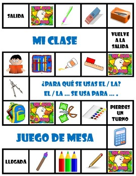 La clase - Board Game + Free Make-Your-Own (Blank) Version