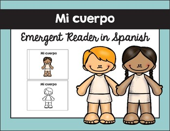 Mi cuerpo texto / My Body Emergent Reader in Spanish