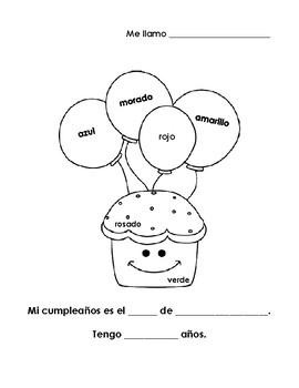 Mi cumpleaños - My birthday coloring page