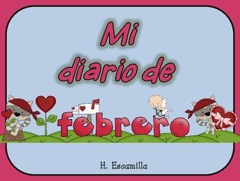 Mi diario de febrero- My February Journal * Both Spanish & English