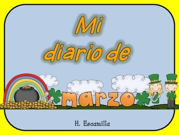 Mi diario de marzo- My March Journal * Both Spanish & English
