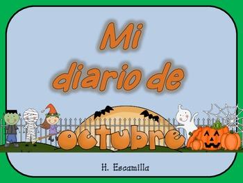 Mi diario de octubre- My October Journal * Both Spanish & English