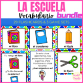 Mi escuela: vocabulario y juegos BUNDLE - My School in Spa