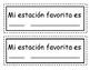 Mi estación favorita / My Favorite Season (Spanish)