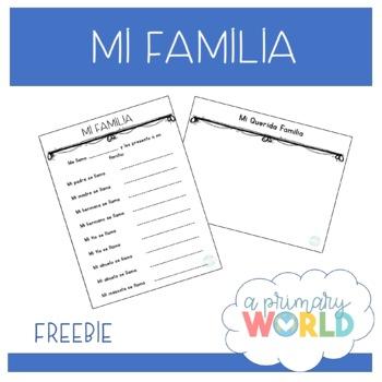 Mi familia - This is my family activity