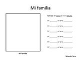 Mi familia Worksheet and Vocabulary