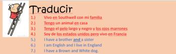 Mi familia y yo Spanish overall revision of family, descriptions, pets, colours