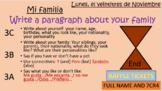 Mi familia y yo Spanish overall revision of family, descri
