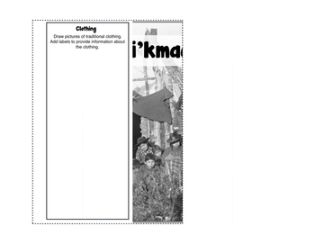 Mi'kmaq Research Writing Flip Book: First Nations