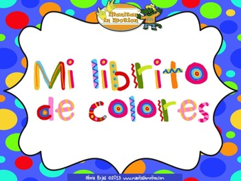 Mi librito de colores– a bilingual book, colors, rhyming