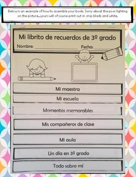 Mi librito de recuerdos (fin del año) Memory Book (Spanish) Any grade