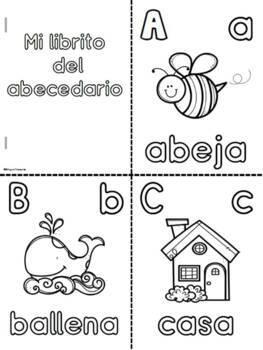 Mi Librito Del Abc Para Colorear Spanish Alphabet Coloring Booklets
