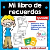 Mi libro de Recuerdos- Distance Learning - Spanish