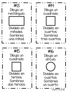 Mi libro de fracciones - Spanish Fraction Booklet