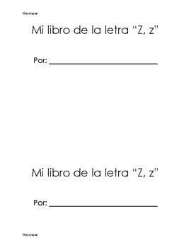 Mi libro de la letra Z